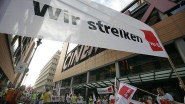 Streik der Beschäftigten von CinemaxX in der Tarifrunde 2012