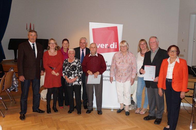 Ortsverein Landkreis Cuxhaven ehrte seine Jubilare