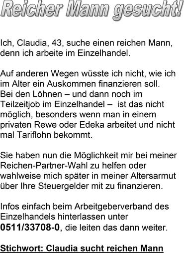 Claudia sucht Mann
