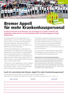 Bremer Appell für mehr Krankenhauspersonal