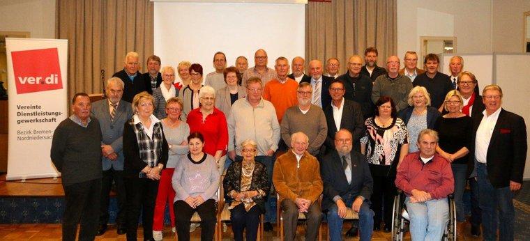 Jubilarehrung 2017 des Ortsverein Bremerhaven am 08.11.2017