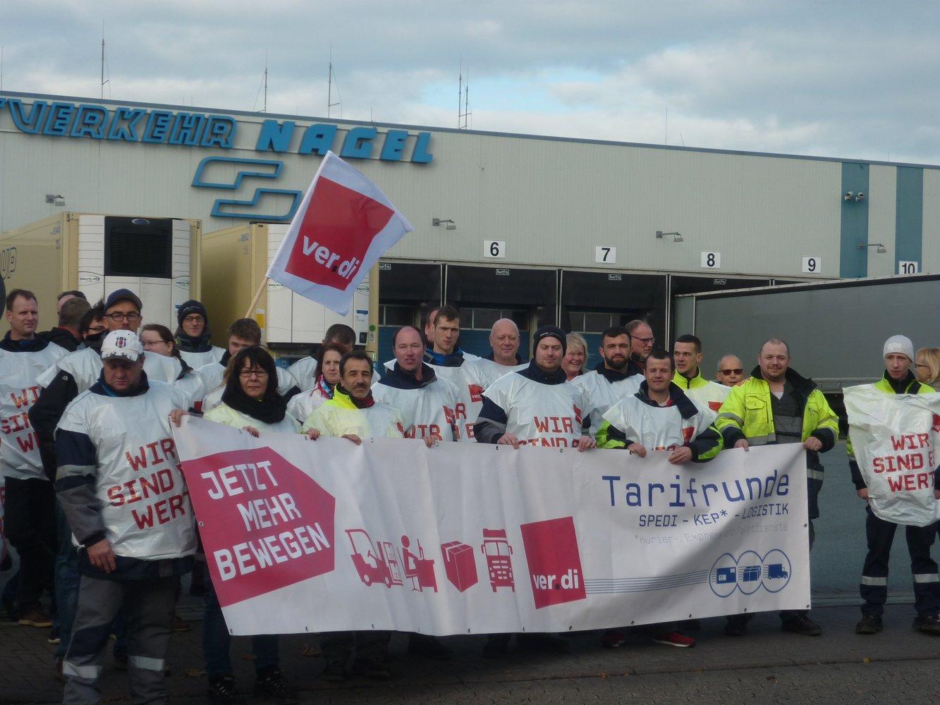 ver.di – Erfolgreicher Streik bei Kraftverkehr Nagel in Achim: WEIL ...