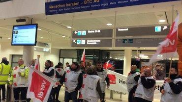 Streik am Bremer Flughafen