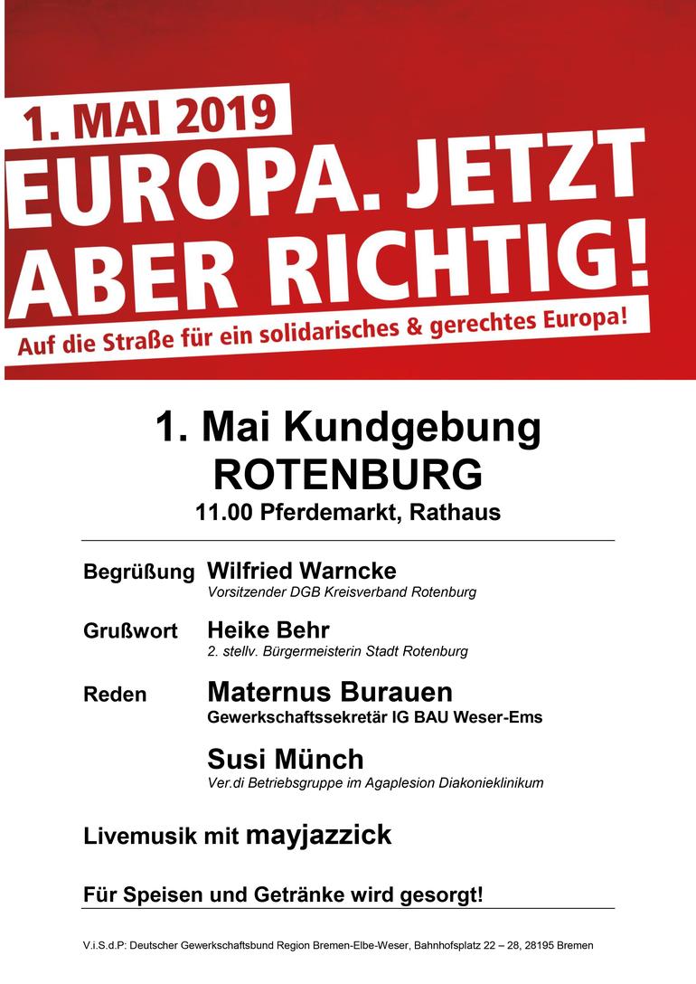 Tag der Arbeit 2019 in Rotenburg