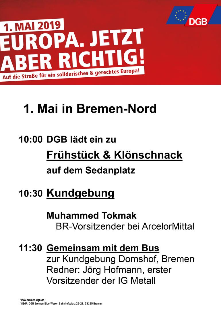 Tag der Arbeit 2019 in Bremen Nord