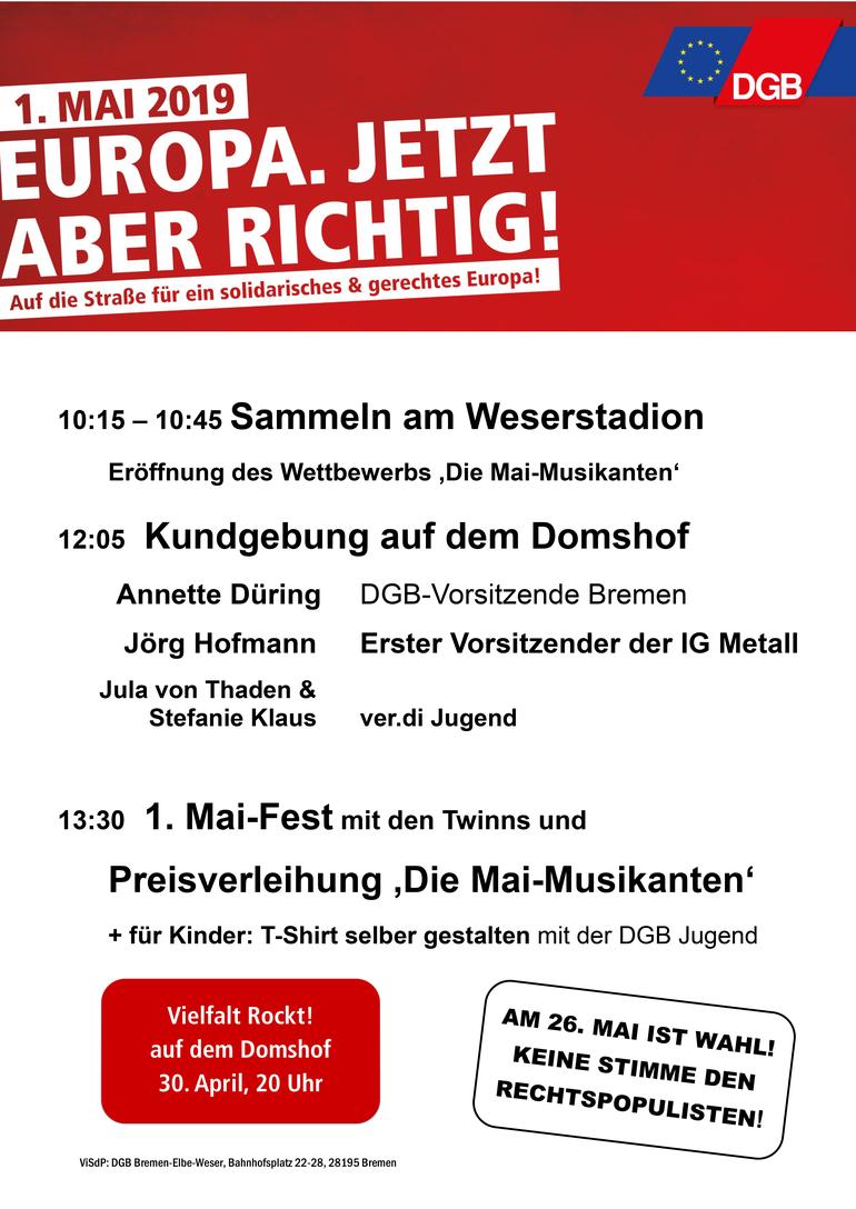 Tag der Arbeit 2019 in Bremen
