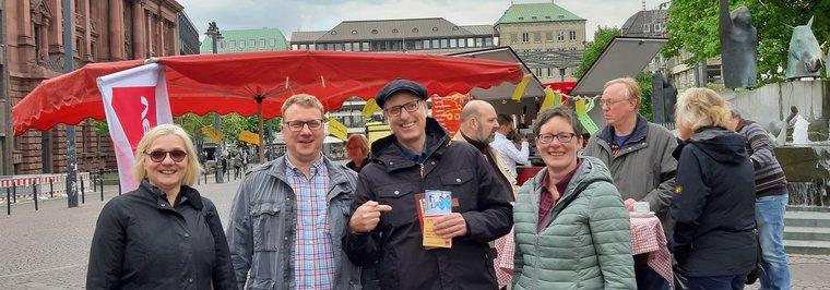 Aktion zur Bürgerschaftswahl 2019 am 09.05.2019 in Bremen