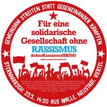 Für eine solidarische Gesellschaft ohne RASSISMUS