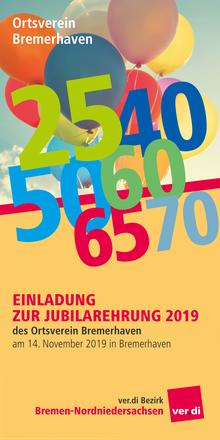 Jubilarehrung 2019: Ortsverein Bremerhaven
