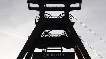 Förderturm der Zeche Zollverein in Essen.