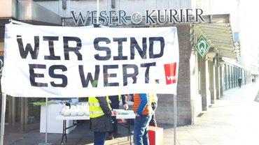 Aktive Mittagspause beim Weser Kurier am 05.12.2019
