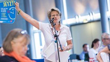 Bundesbeamtin Katrin Teich bei der Verhandlungskommission der Tarif- und Besoldungsrunde Bund/VKA 2020.