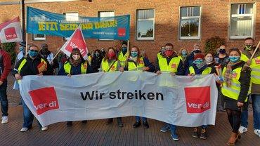 Warnstreik in Bremerhaven am 15.10.2020