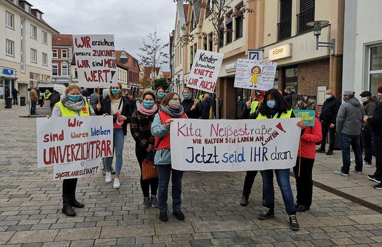 Zweiter Warnstreik in Verden am 15.10.2020