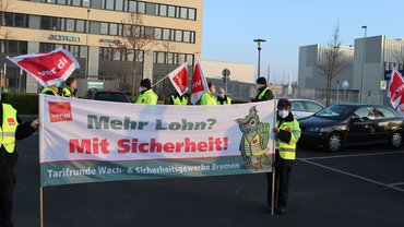 Erneute Streiks in der Tarifrunde der allgemeinen Bewachung