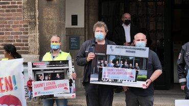 ver.di-Aktion für bessere Finanzierung öffentlicher Dienstleistungen am 22. Juni vor dem Rathaus Bremen