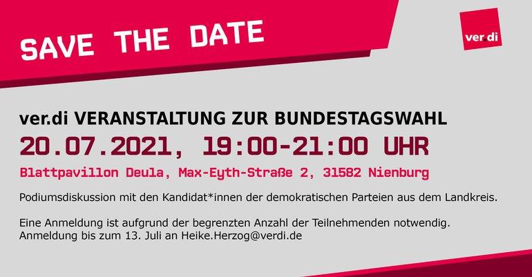 Podiumsdiskussion des Ortsverein Nienburg am 20.07.2021 mit den Kandidat*innen der demokratischen Parteien aus dem Landkreis.